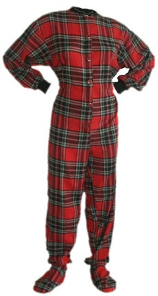 Adult Footed Pajamas (Choose Your Color & Size) Footie Drop ...