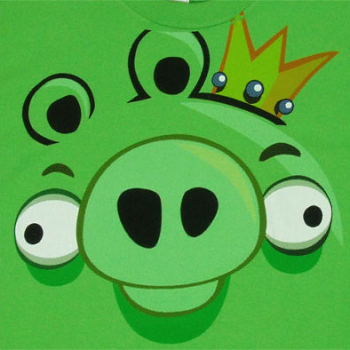 Details About King Pig Angry Birds Face Shirt