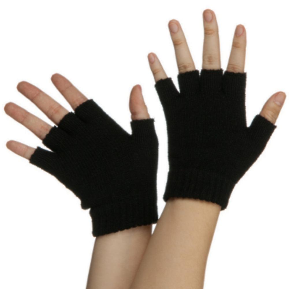 black fingerless gloves pair legends of the hidden temple