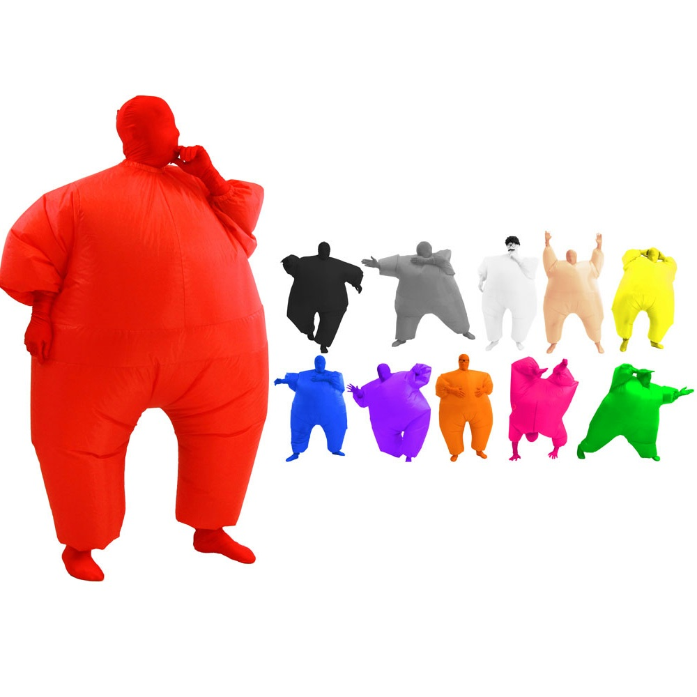 Pink Inflatable Fat Suit Costume Blow Up Chub New - eBay