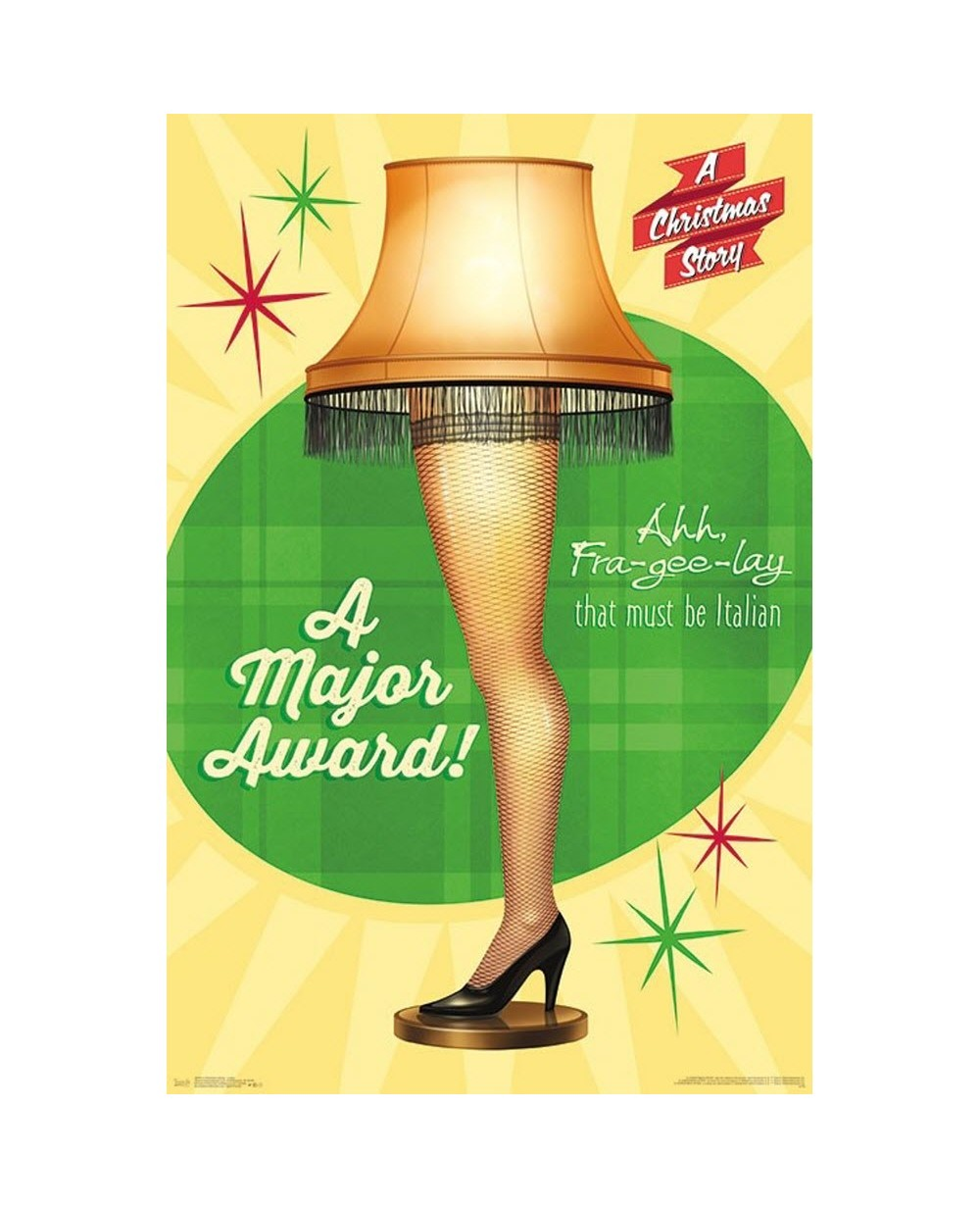 The Christmas Story Lamp.A Christmas Story Lamp Poster
