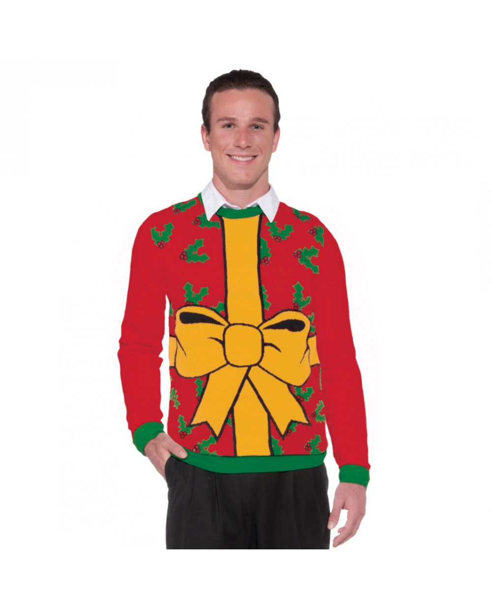 Mens Christmas Sweaters.All Wrapped Up Ugly Christmas Sweater