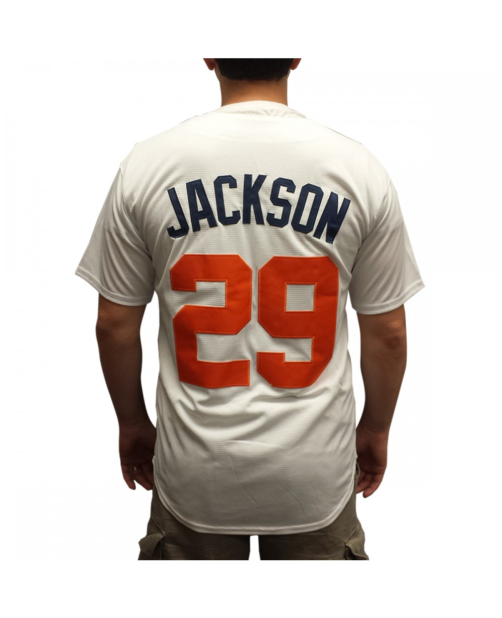 best sneakers 43a9a ea44a Jackson #29 White Baseball Jersey