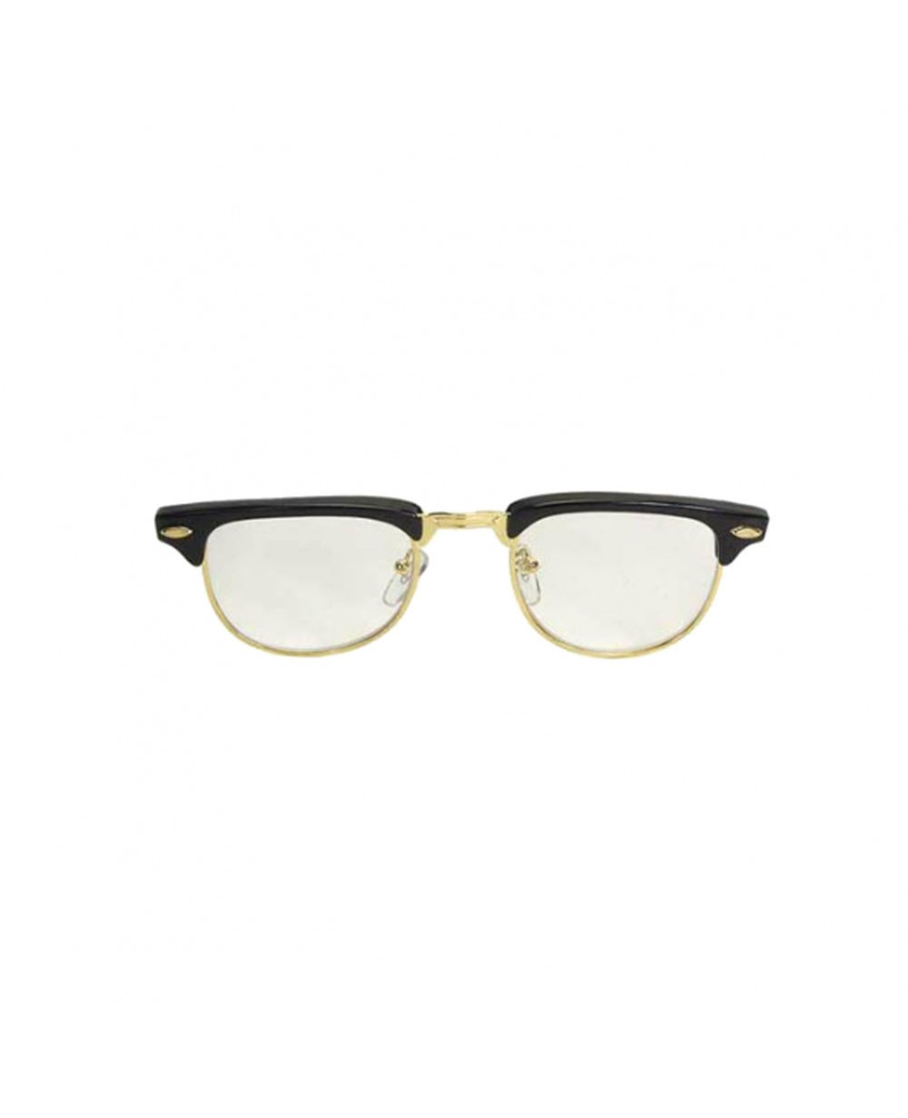 nerdy soho glasses with black and gold frames