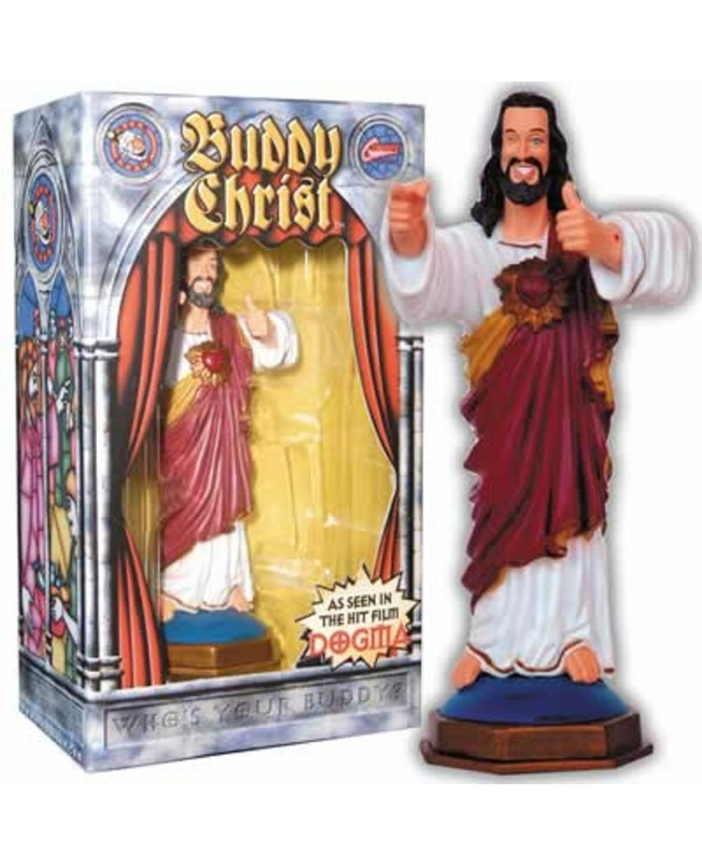 The changing face of Jesus. Good idea or bad? Buddy-christ-dashboard-figure