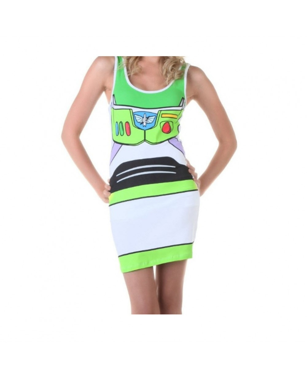 More Views. Buzz Lightyear Toy Story Womens Tank Dress Costume  sc 1 st  MyPartyShirt.com & Buzz Lightyear Womens Tank Dress Costume