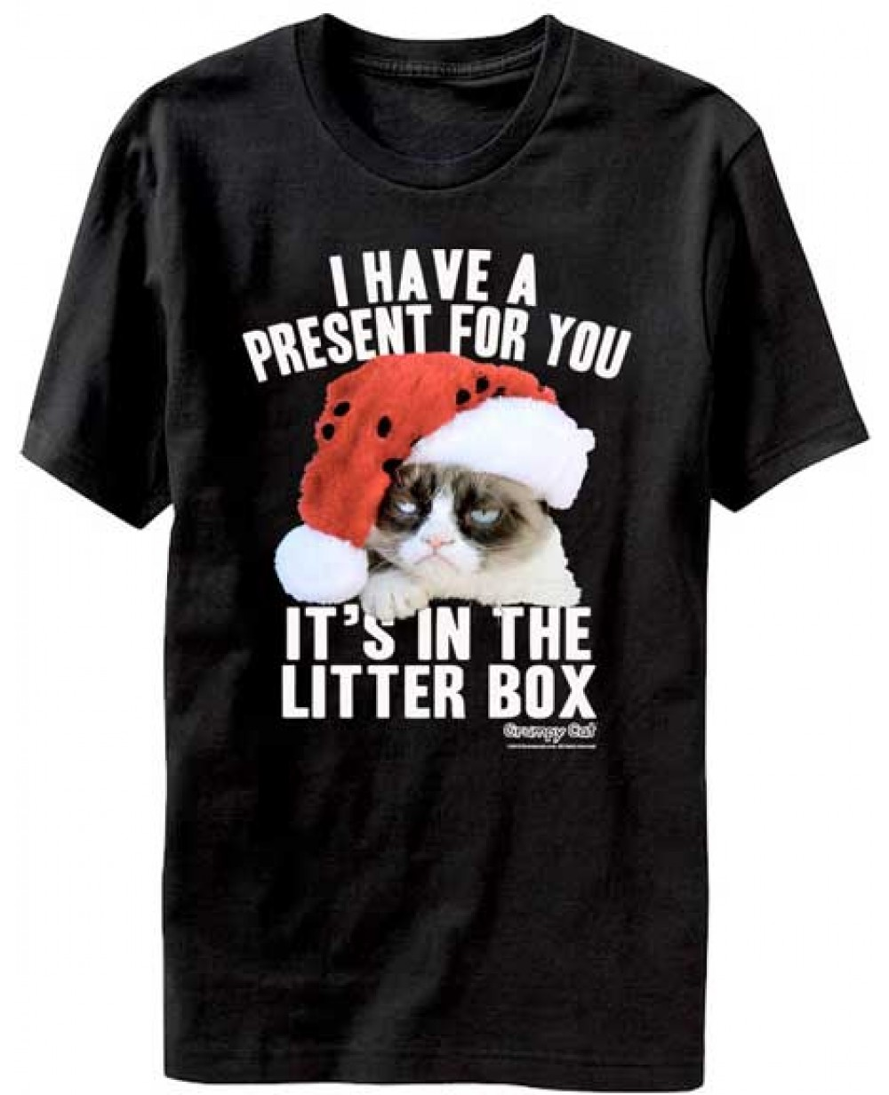 149580adc32e60 more views grumpy cat litter box christmas t shirt. lost gods ugly ...