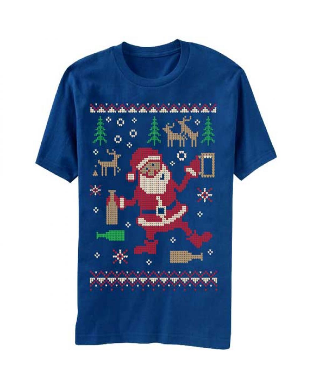 More Views. Drunk Santa Ugly Christmas Sweater T-Shirt