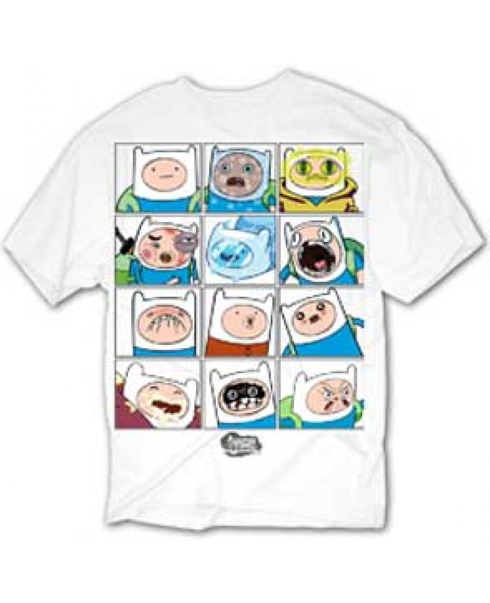 The Many Faces Of Finn Adventure Time T Shirt