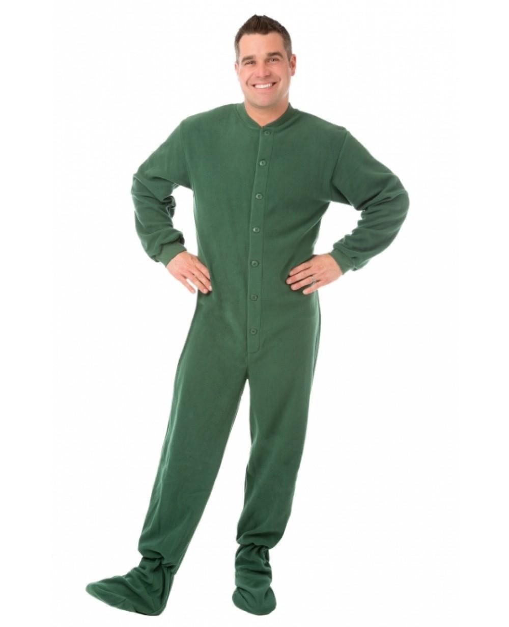 a25a73de5937 More Views. Hunter Green Fleece Adult Footed Pajamas