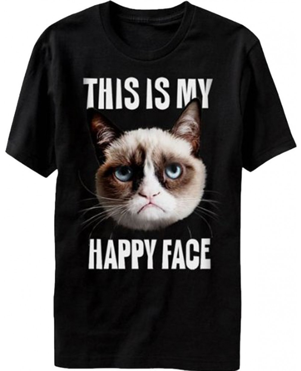 This Is My Happy Face Grumpy Cat T Shirt