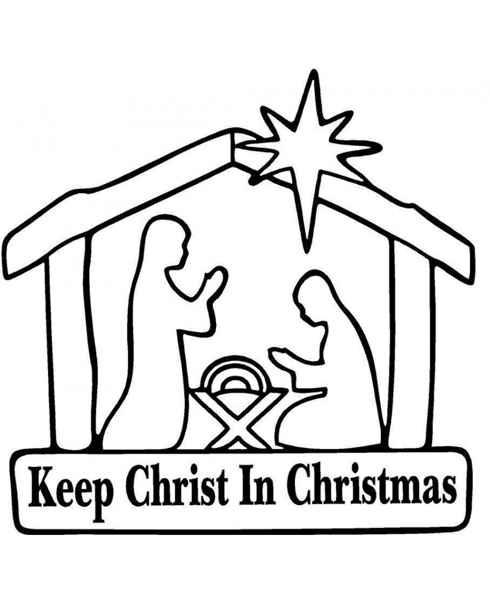 Keep Christ in Christmas BLACK Sticker Decal For Car