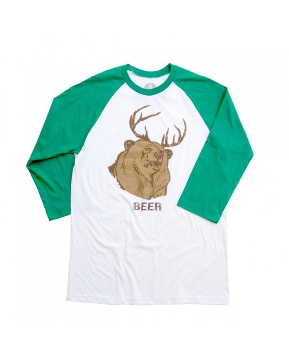 Mac\'s Beer It\'s Always Sunny in Philadelphia Green Baseball T-Shirt