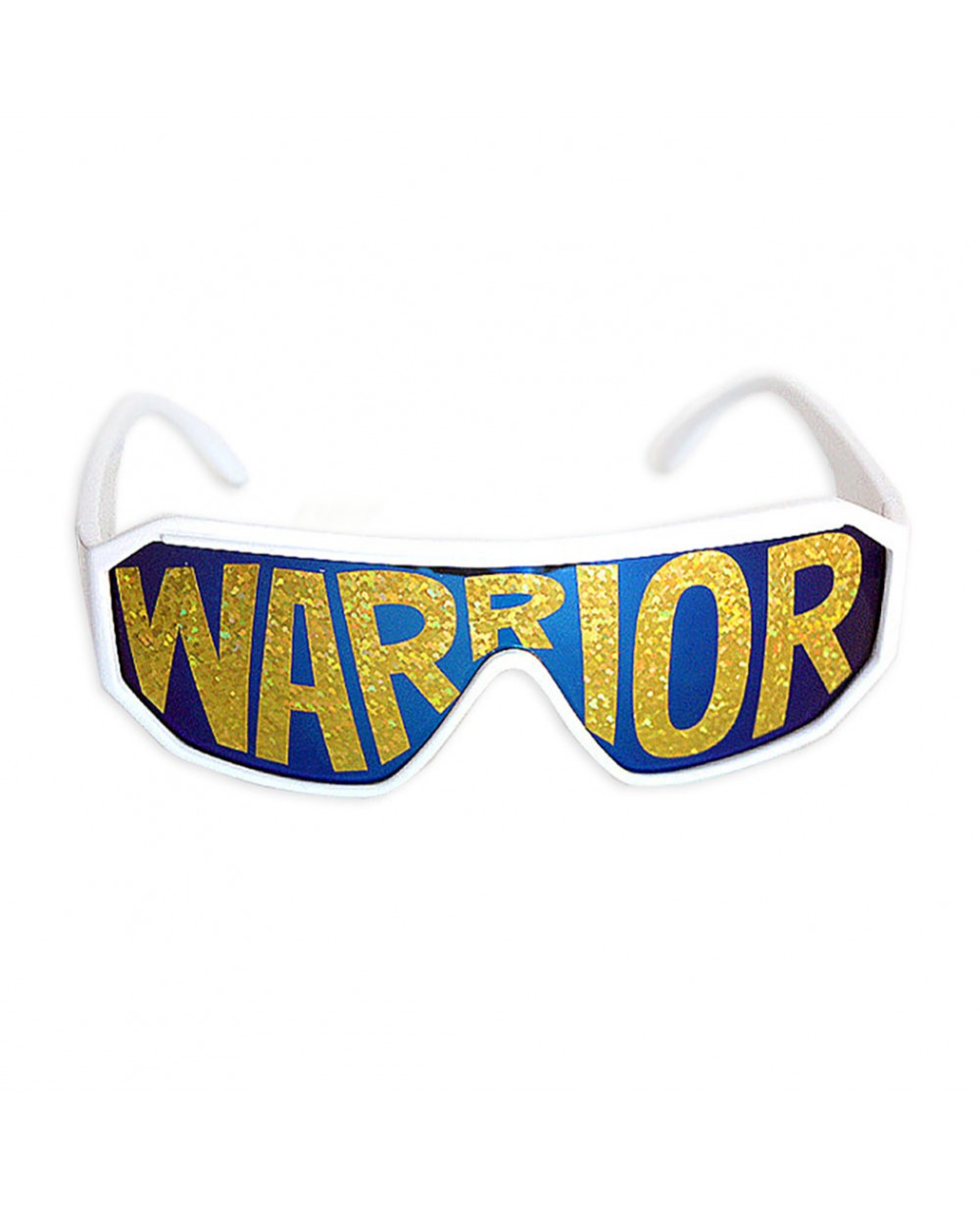 MyPartyShirt Macho Wrestler Lightning Bolt Black Shield Sunglasses UsOikY