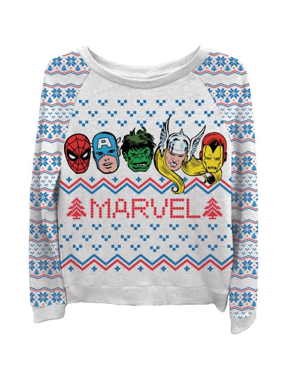 more views marvel comics womens ugly christmas sweater