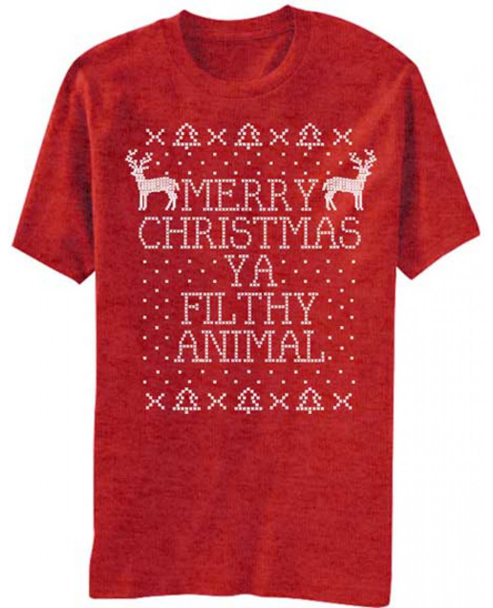 Merry Christmas Ya Filthy Animal Home Alone T Shirt