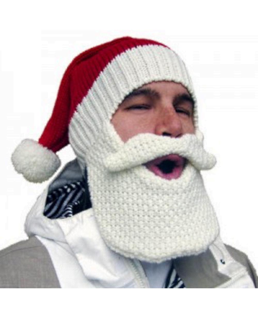 3c3fb90551ecb More Views. Santa Claus Beard Head Knit Hat