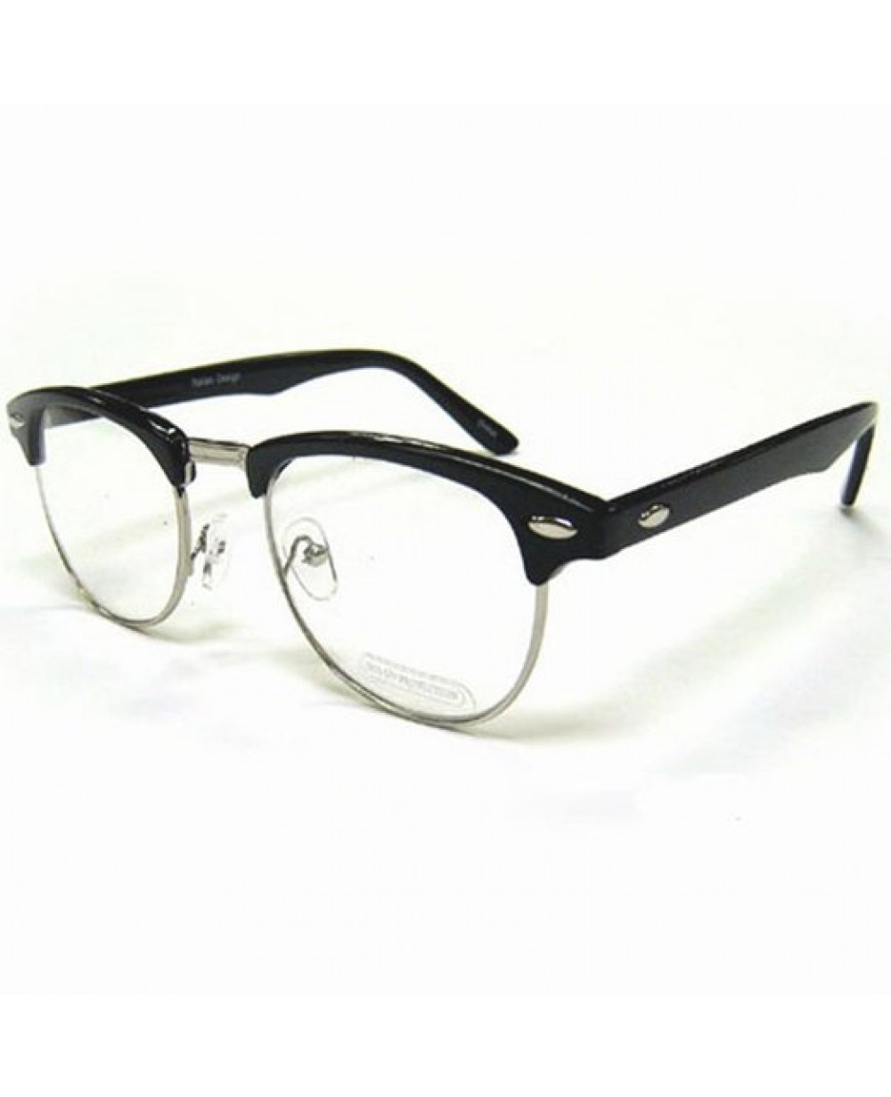 nerdy soho glasses with black and silver frames