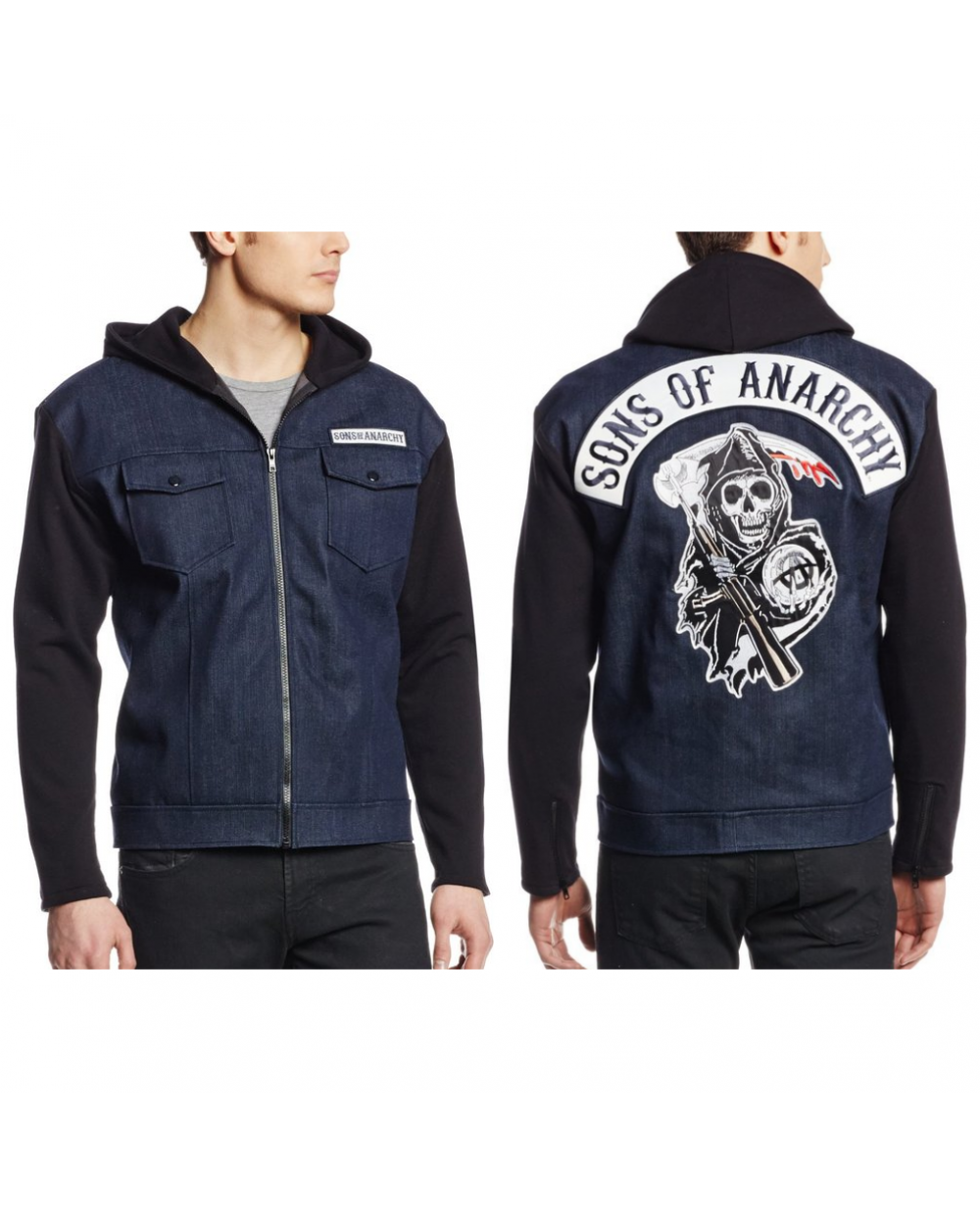 sons of anarchy denim jacket. Black Bedroom Furniture Sets. Home Design Ideas