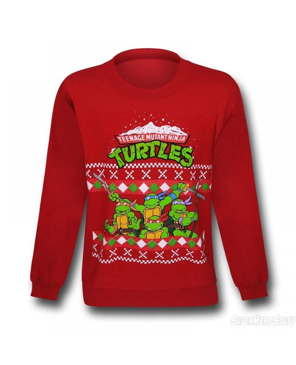 Superhero Ugly Christmas Sweaters.Teenage Mutant Ninja Turtles Ugly Christmas Sweater