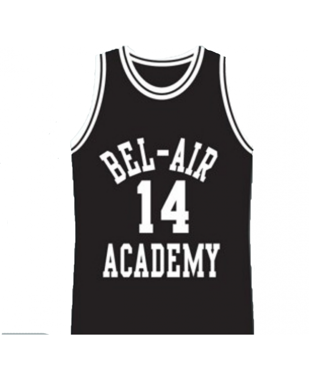 factory authentic de619 df379 Will Smith #14 Bel Air Black Basketball Jersey