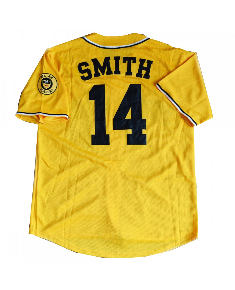 90d5a50e60a3 More Views. Will Smith  14 Bel Air Yellow Baseball Jersey