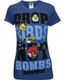 Drop Birds Not Bombs Angry Birds Womens T-Shirt