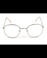 George Costanza Round Silver Frame Glasses