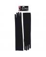 Long Black Flapper Gloves (Pair)