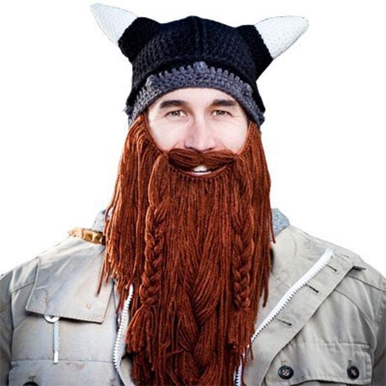 Barbarian Beard Head Knit Hat