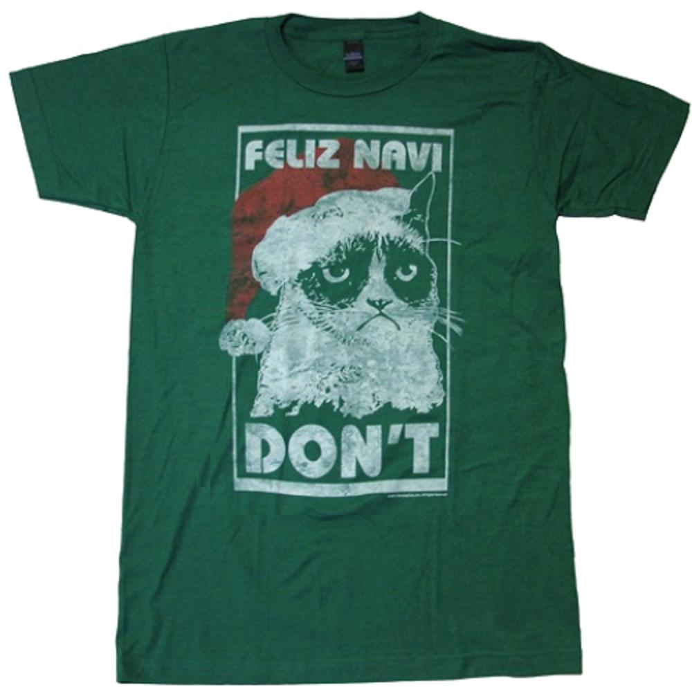 Grumpy Cat Feliz Navi Don T Christmas T Shirt