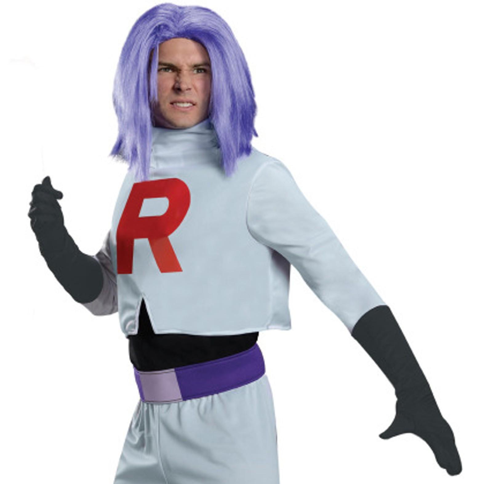 James Team Rocket Pokemon Costume