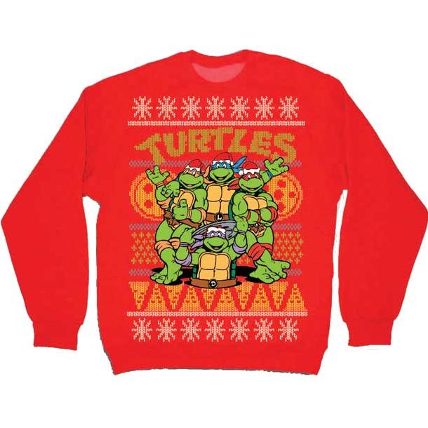 Mutant Ninja Turtles    Faces Ninja Turtle Faux Christmas Sweater
