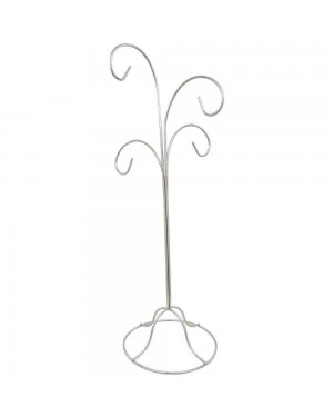 "14.5"" Four Tiered Chrome Ornament Stand"