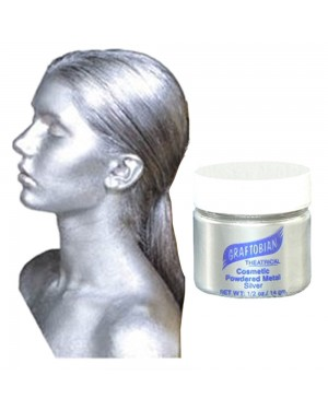 Cosmetic Powdered Metals - Silver .5 oz.