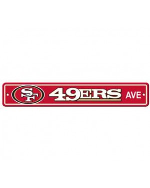 "San Francisco 49ers Ave Street Sign 4""x24"""