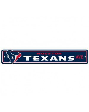 "Houston Texans Ave Street Sign 4""x24"""