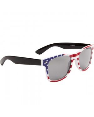 American Flag Wayfarer Sunglasses With Black Arms