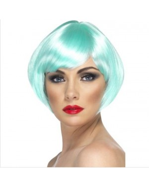 Babe Wig Aqua Short Bob with Fringe
