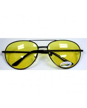Yellow and Black Aviator Sunglasses