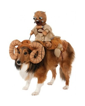 Bantha with Tusken Raider Star Wars Pet Costume