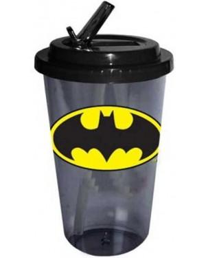 Batman Plastic Travel Flip Straw Cup