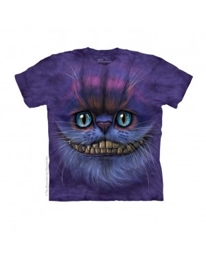 Big Face Cheshire Cat Adult T-Shirt