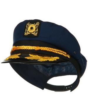 Navy Blue Yacht Captain Hat With Scrambled Eggs