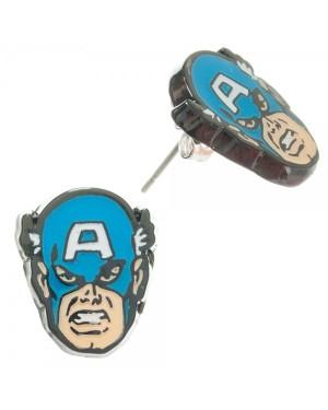 Captain America Face Marvel Earrings