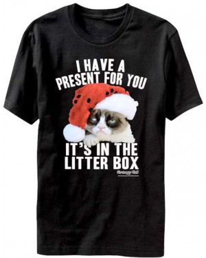 Grumpy Cat Litter Box Christmas T-Shirt