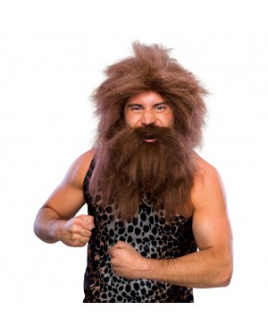 Caveman Wig And Beard Set
