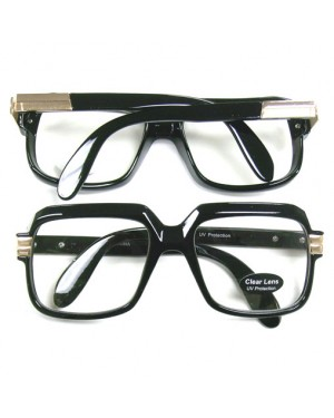 Oversized Black Hip Hop Glasses