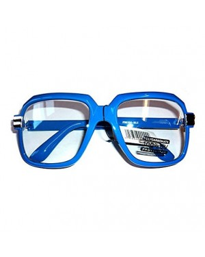 Oversized Blue Hip Hop Glasses
