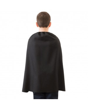 Child Black Superhero Cape 28""